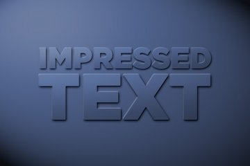 Impressed Text Photoshop Style