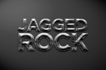 Jagged Rock Photoshop Style