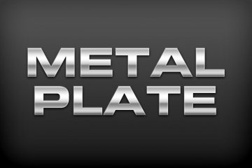 Metal Plate Photoshop Style