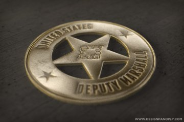 Realistic 3D Old Western Badge in Illustrator and Photoshop CS6 Project Files