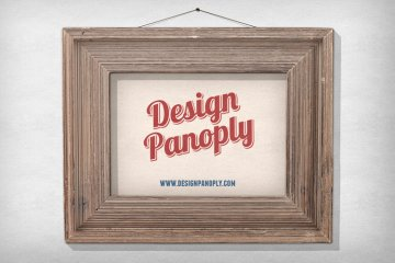 Realistic Vintage Poster Print in a Picture Frame Project Files
