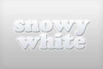 Snowy White Photoshop Style