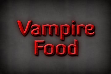 Vampire Food Photoshop Style