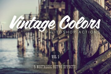 Vintage Colors Actions Volume 1