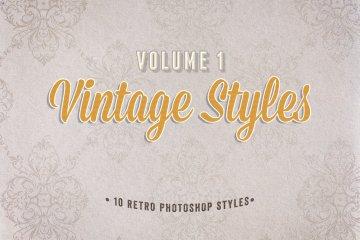 Vintage Photoshop Styles Volume 1