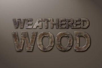 Weathered Wood Photoshop Style