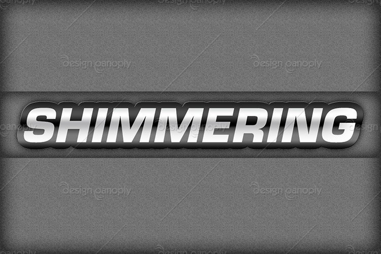 Animated Shimmering Metal Text Effect Project Files
