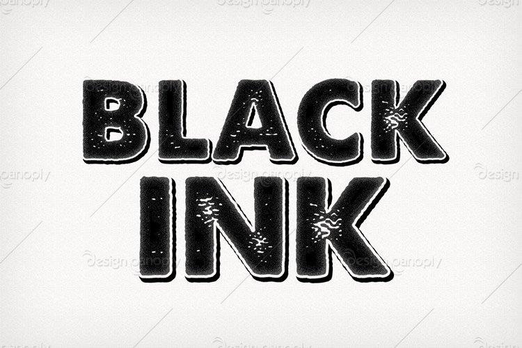 Black Ink Photoshop Style