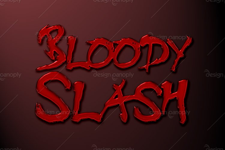 Bloody Slash Photoshop Style