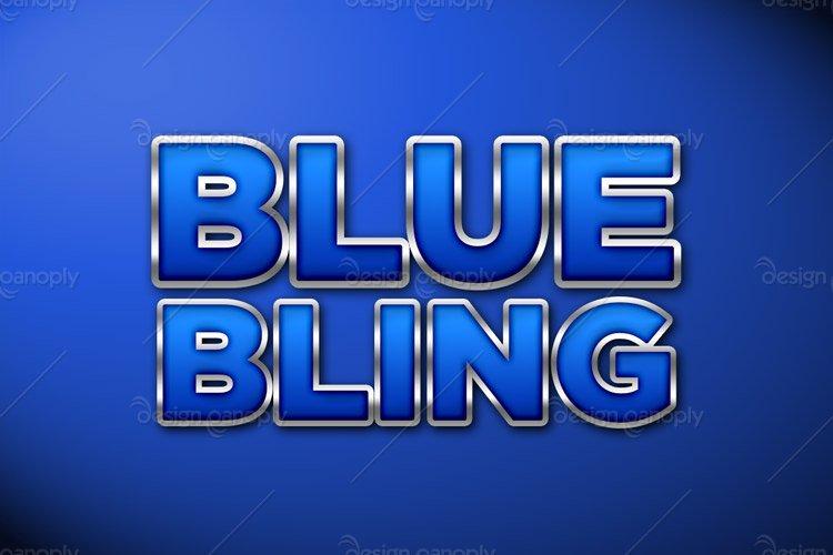 Blue Bling Photoshop Style