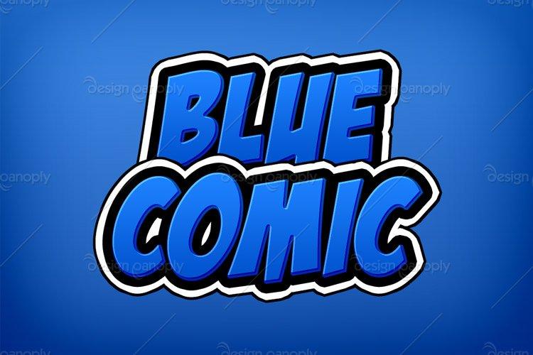 Blue Comic Photoshop Style