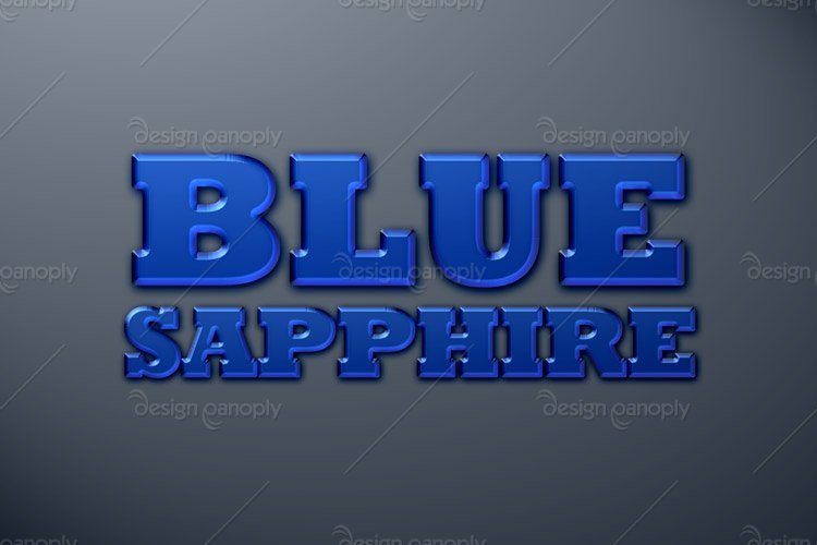 Blue Sapphire Photoshop Style