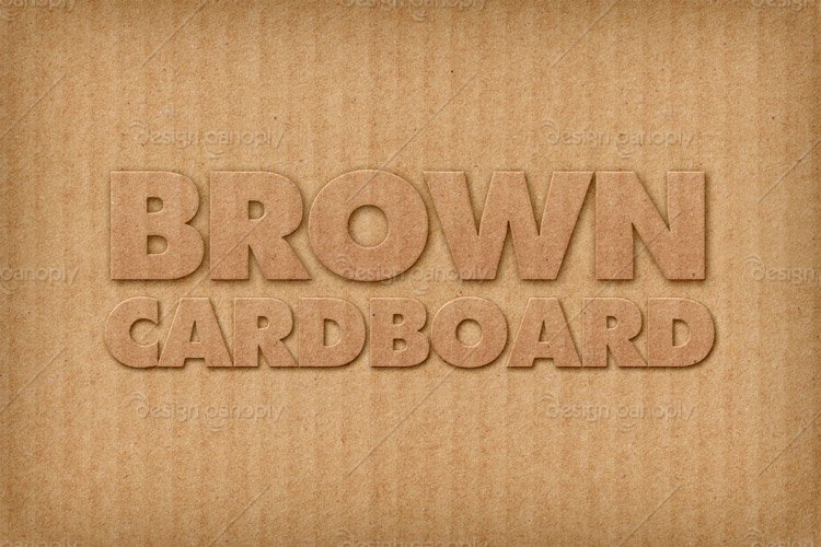 Brown Cardboard Photoshop Style