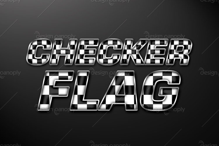 Checkered Flag Photoshop Style