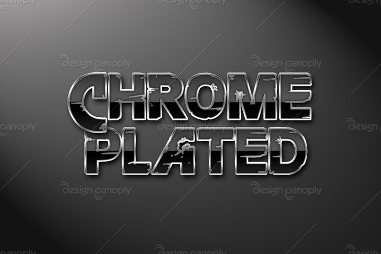 Chrome Plated Photoshop Style