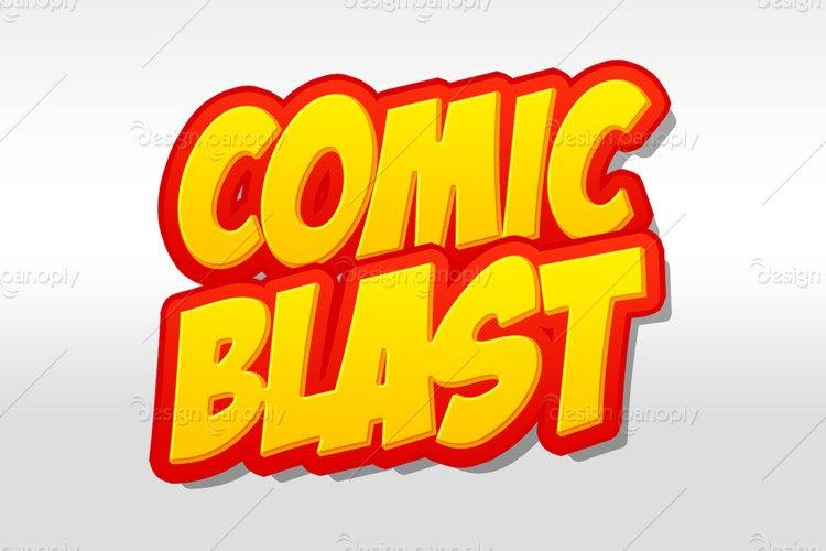 Comic Blast Photoshop Style