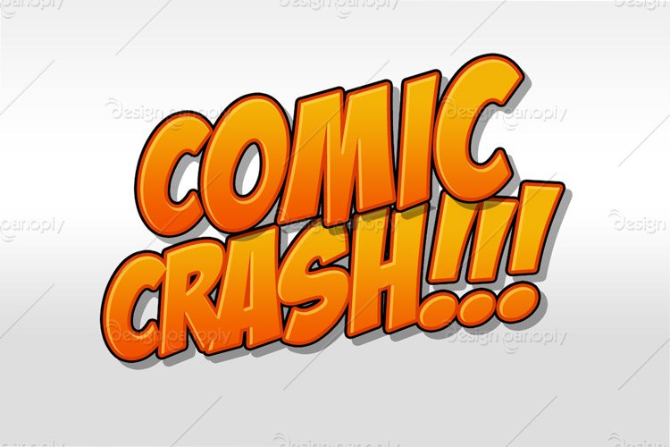 Comic Crash Photoshop Style