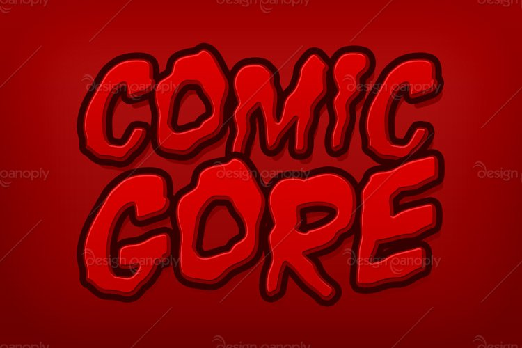 Comic Gore Photoshop Style