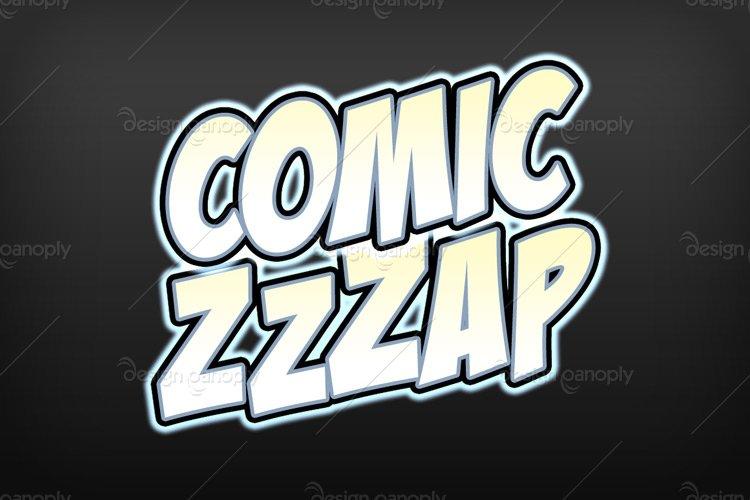Comic Zap Photoshop Style