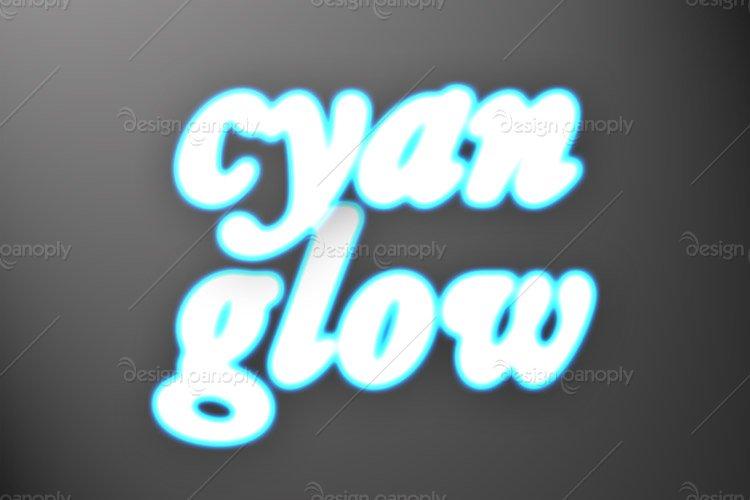 Cyan Glow Photoshop Style