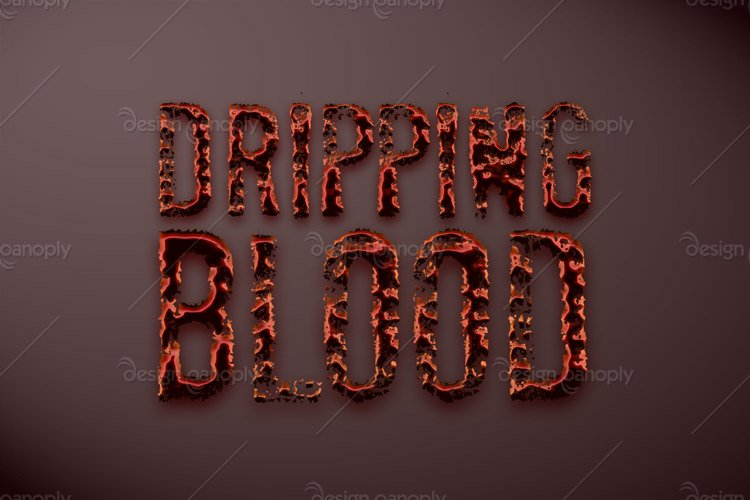 Dripping Blood Photoshop Style
