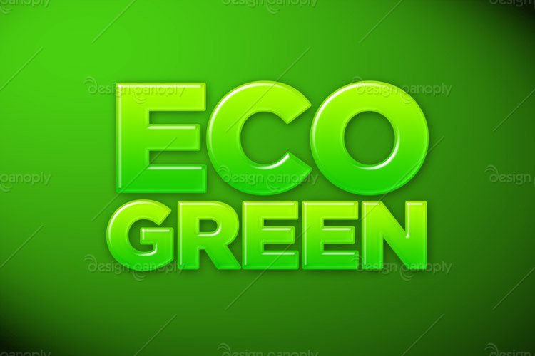 Eco-Friendly Green Photoshop Style