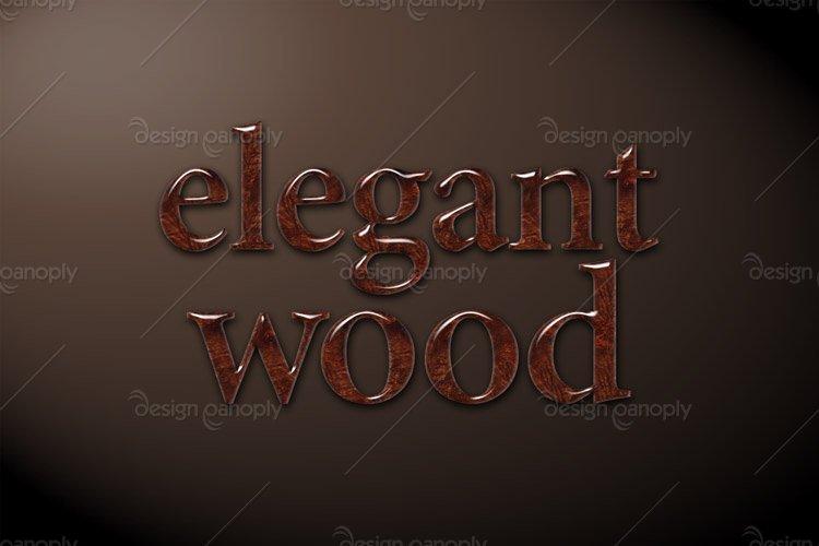 Elegant Wood Photoshop Style