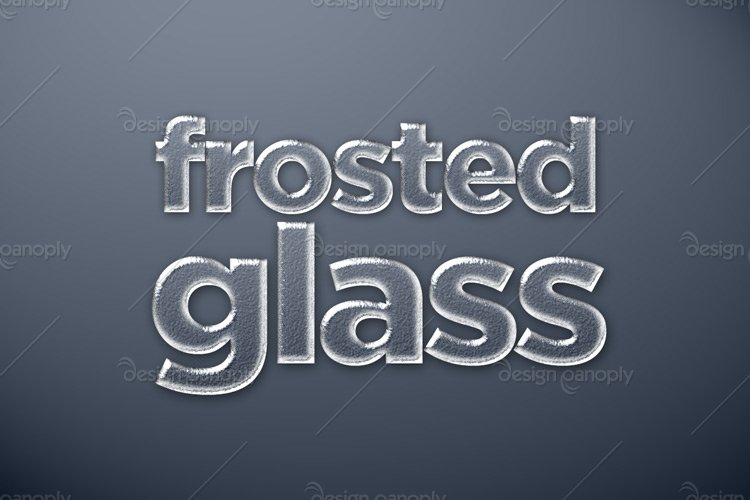 Frosted Glass Photoshop Style