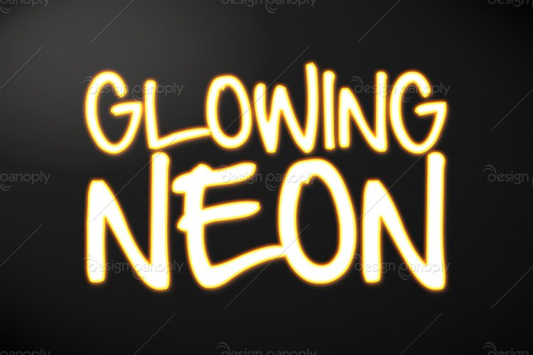 Glowing Neon Photoshop Style