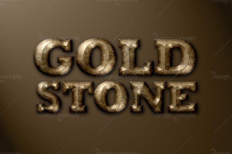Golden Stone Photoshop Style