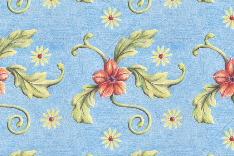 Hand Drawn Floral Pattern 1