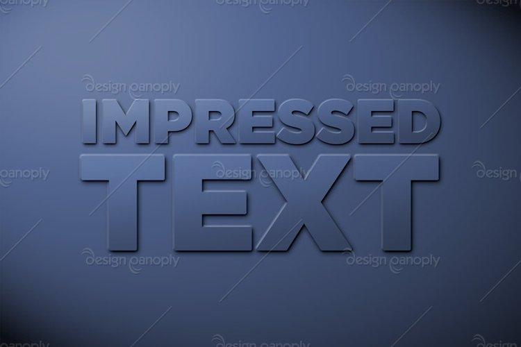 Impressed Text Photoshop Style