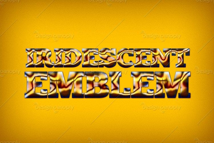 Iridescent Emblem Photoshop Style