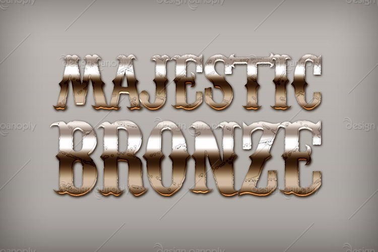 Majestic Bronze Photoshop Style