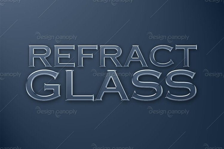 Refracted Glass Photoshop Style