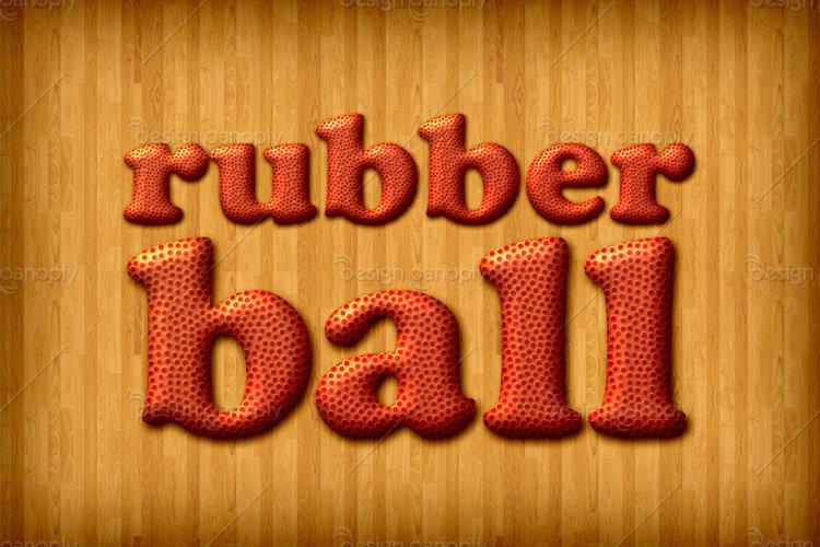 Rubber Basketball Photoshop Style