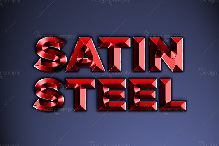 Satin Steel Photoshop Style