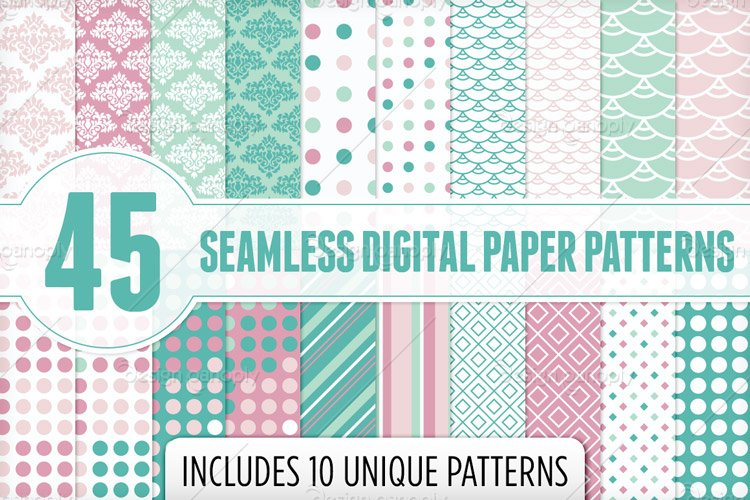 Seamless Digital Papers Pattern Pack 1