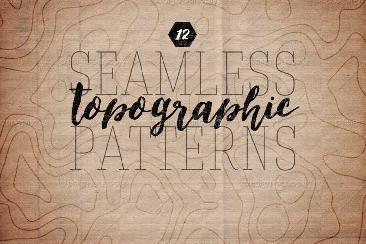 Seamless Topographic Patterns Volume 1
