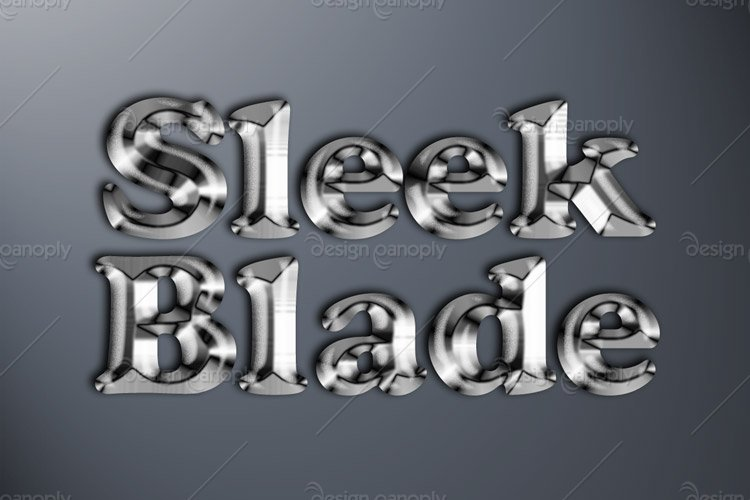 Sleek Blade Photoshop Style