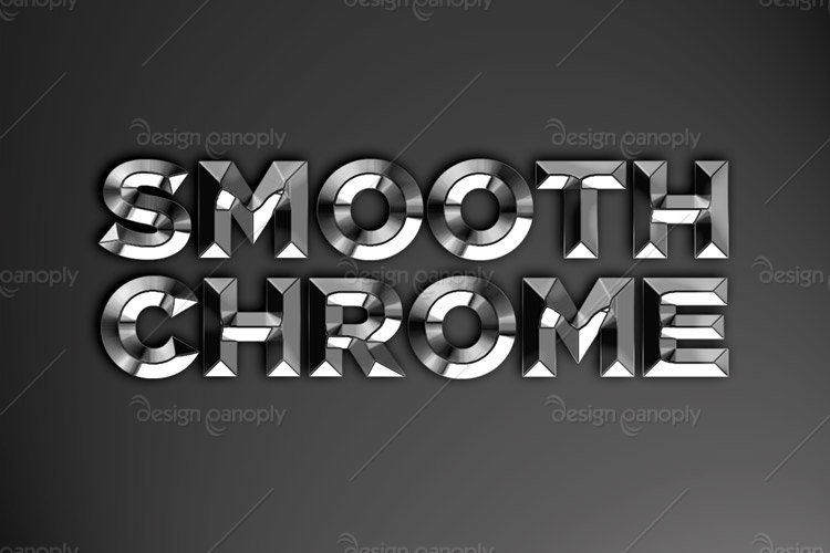 Smooth Chrome Photoshop Style