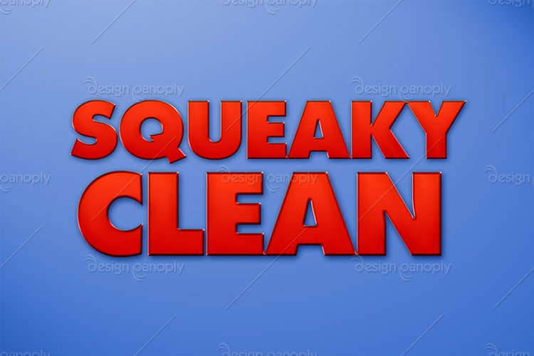 Squeaky Clean Photoshop Style
