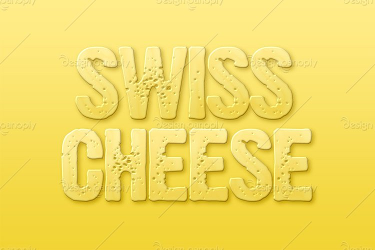 Swiss Cheese Photoshop Style