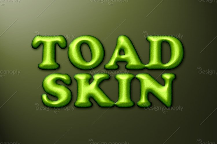 Toad Skin Photoshop Style