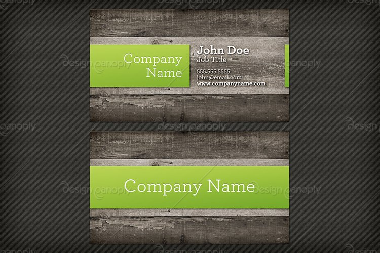 Wood Background Business Card Template 1 | Design Panoply