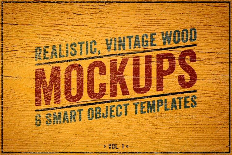 Wood Logo Mockups Volume 1