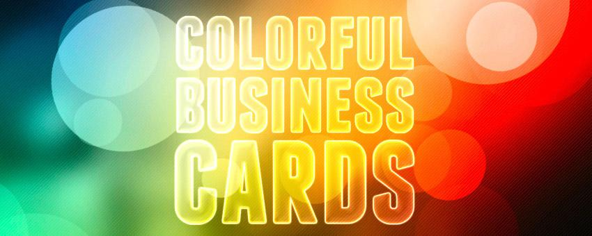 25 Beautifully Colorful Business Card Templates