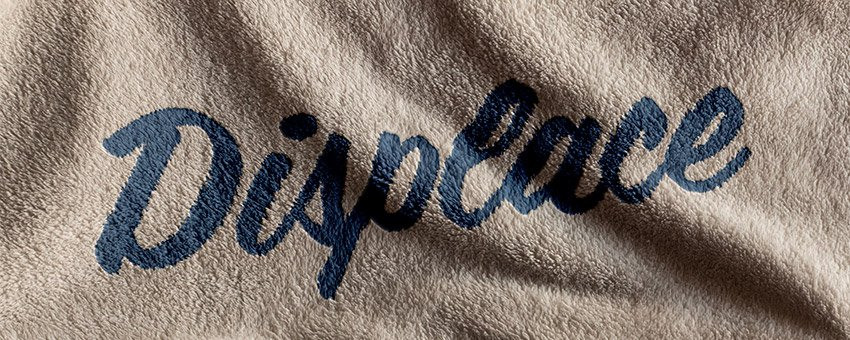 Displacement Map Photoshop How to Conform Text to a Surface Using a Displacement Map in