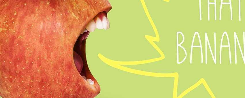 How to Create a Loud Mouth Apple in Photoshop