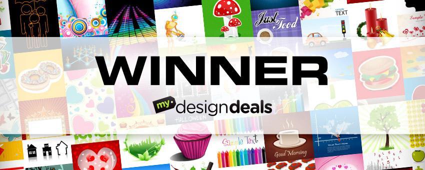Winner of 4,424 Vector Graphics from MyDesignDeals